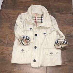 Burberry Spring swing jacket with bracelet sleeves